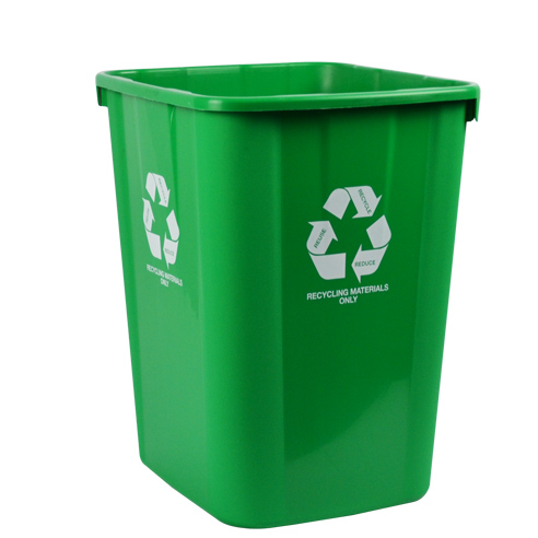 ITALPLAST BIN ITALPLAST 32L 320X360X400MM RECYCLING MATERIALS ONLY GREEN ( EACH )